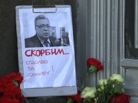 Raw: Flowers Laid for Killed Russian Ambassador