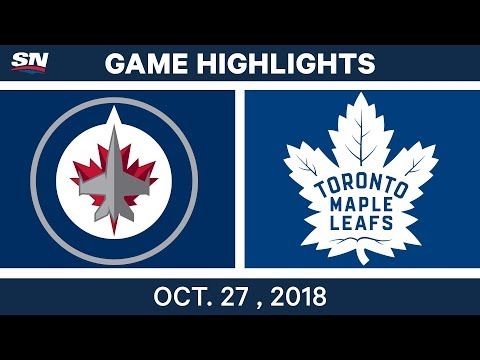 NHL Highlights | Jets vs. Maple Leafs - Oct. 27, 2018