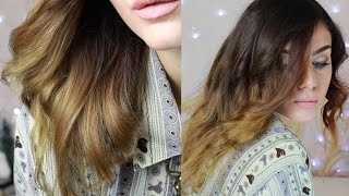 SHATUSH naturale FAI DA TE + Come eliminare i RIFLESSI ROSSI dai capelli! Ombre Hair Tutorial Thumbnail