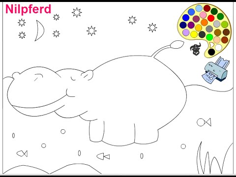 Hippo Coloring Pages For Kids Hippo Coloring Pages
