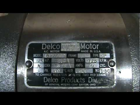 hqdefault delco electric motor youtube delco electric motor wiring diagram at bayanpartner.co