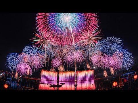 [4K] 桑名水郷花火大会 2018 2尺玉17発! NTN提供 超特大仕掛花火 - Kuwana Suigo Fireworks 2018 - (Shot on Samsung NX1)