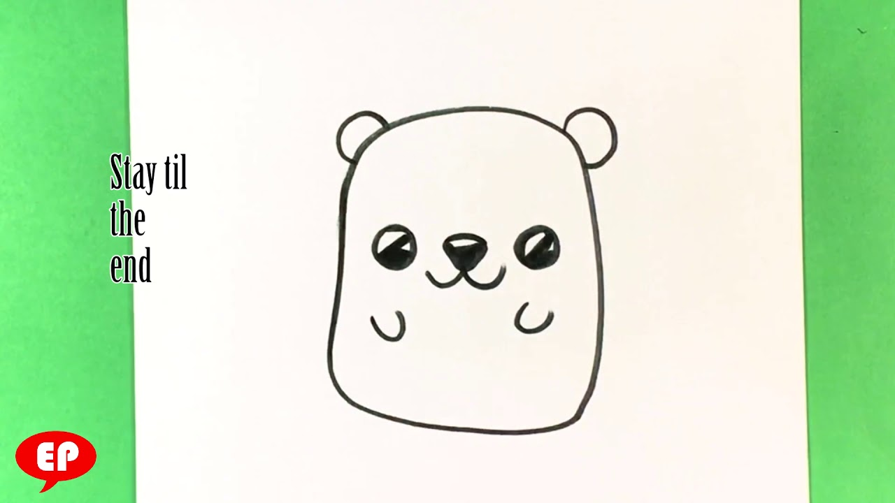 How to Draw a Cute Bear - Step by Step for Beginners and ...