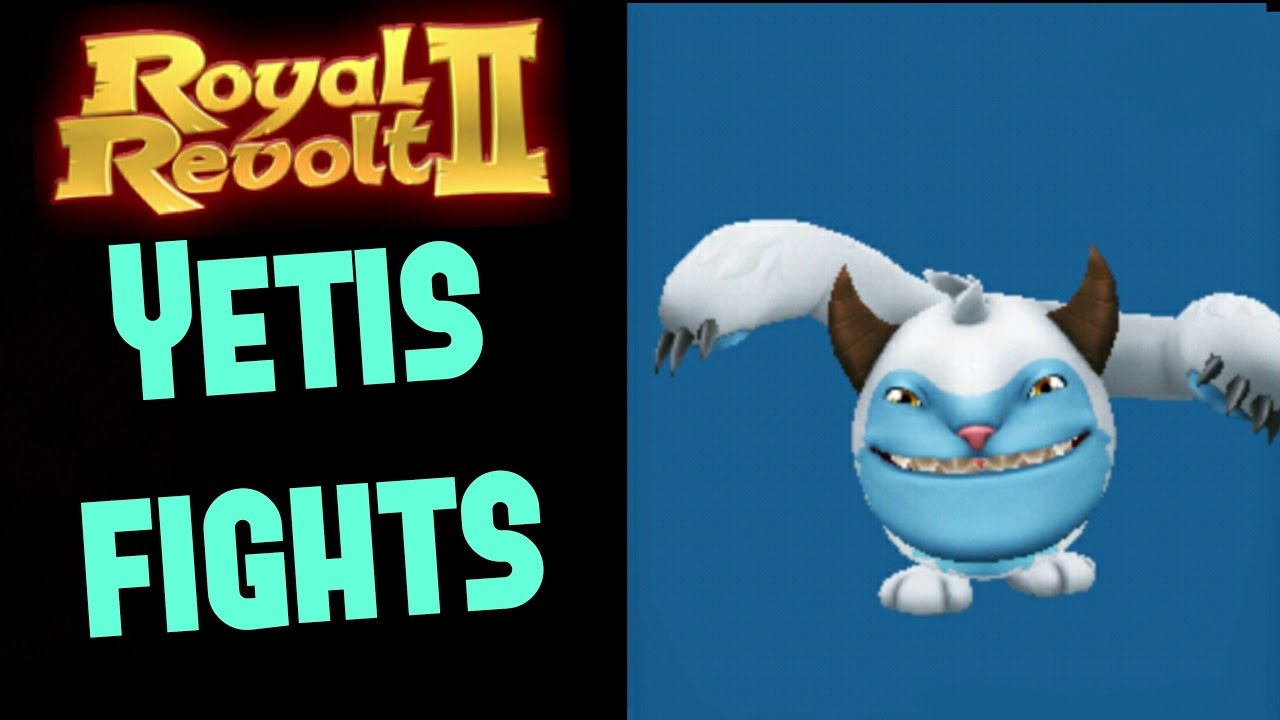 Royal Revolt 2 Yetis Fights Winter Special Event Youtube