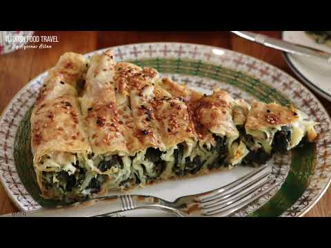 "Turkish Rolled Spinach Borek ""Ispanaklı Dolama Börek"""