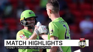 Thunder stay in the hunt for finals with thrilling win | KFC BBL|09