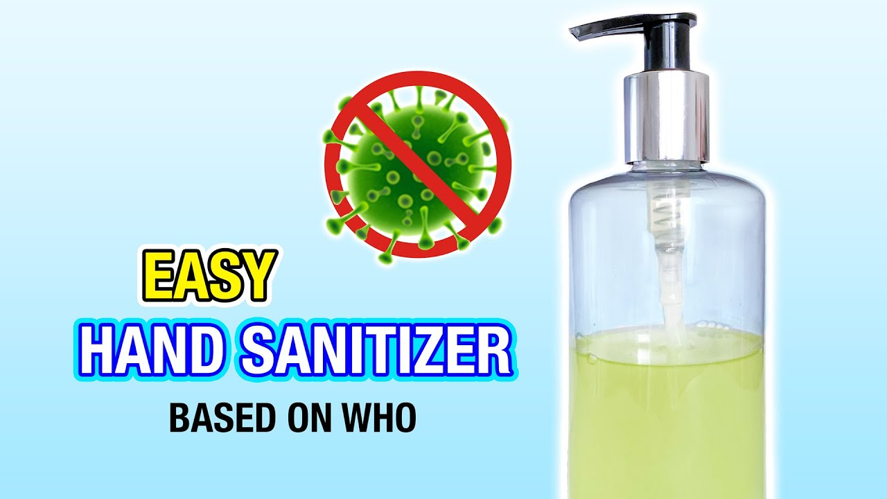 How To Make Diy Hand Sanitizer With Items You Have At Home Based