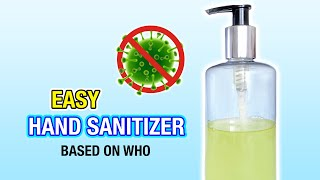 How to make a quick and easy diy sanitizer, based on the official world health organization recipe! this is such an hand sanitizer everything yo...