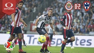 Resumen Guadalajara 0 - 2 Monterrey | Cl 2019 - Jornada 9 | Televisa Deportes
