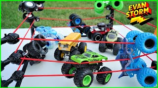 Monster Truck Monday: Spinmaster Monster Jam King of the Ring Tournament Backyard Play with Dad