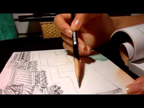 Today's Drawing Practice - Traditional Korean Wall Part1 [Drawing sound] - gogougo1