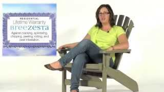 Breezesta's Maintenance Free Patio Furniture - The Weatherwood Coastal Adirondack Chair