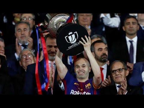 euronews (en español): El Barcelona gana la Copa del Rey con homenaje de Iniesta al fútbol