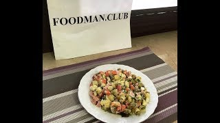 """Салат """"Оливье с колбасой"""": рецепт от Foodman.club"""