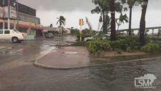 Damage From Hurricane Matthew - Nassau, Bahamas 10-6-16