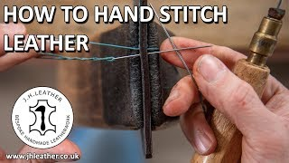 How to Hand Stİtch Leather - Saddle Stitch Tutorial, Beginner Leatherwork