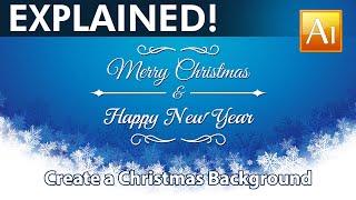 Design a Christmas Background - Adobe Illustrator Tutorial