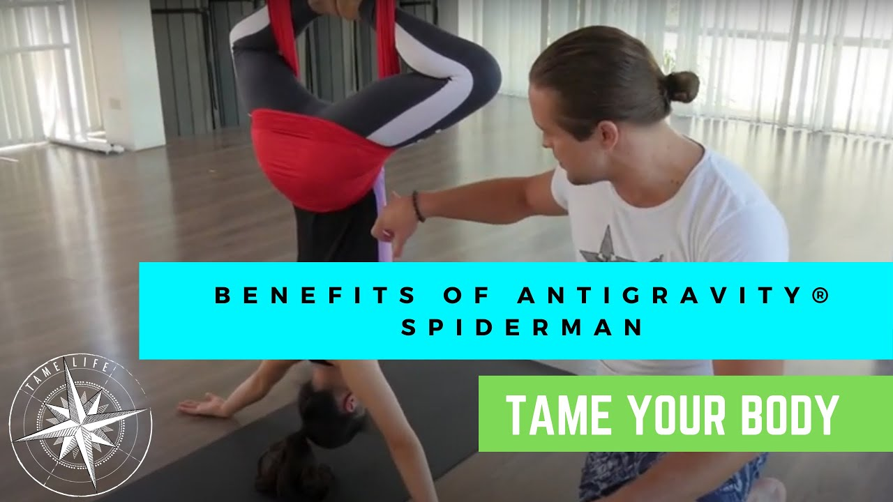 ANTIGRAVITY® BENEFITS OF THE POSE - SPIDERMAN INVERSION