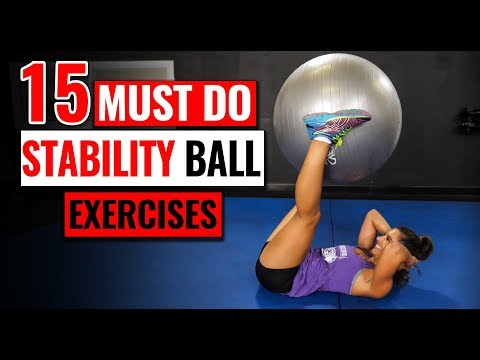 15 MUST-DO Stability Ball Core Exercises (Lose Belly Fat!)
