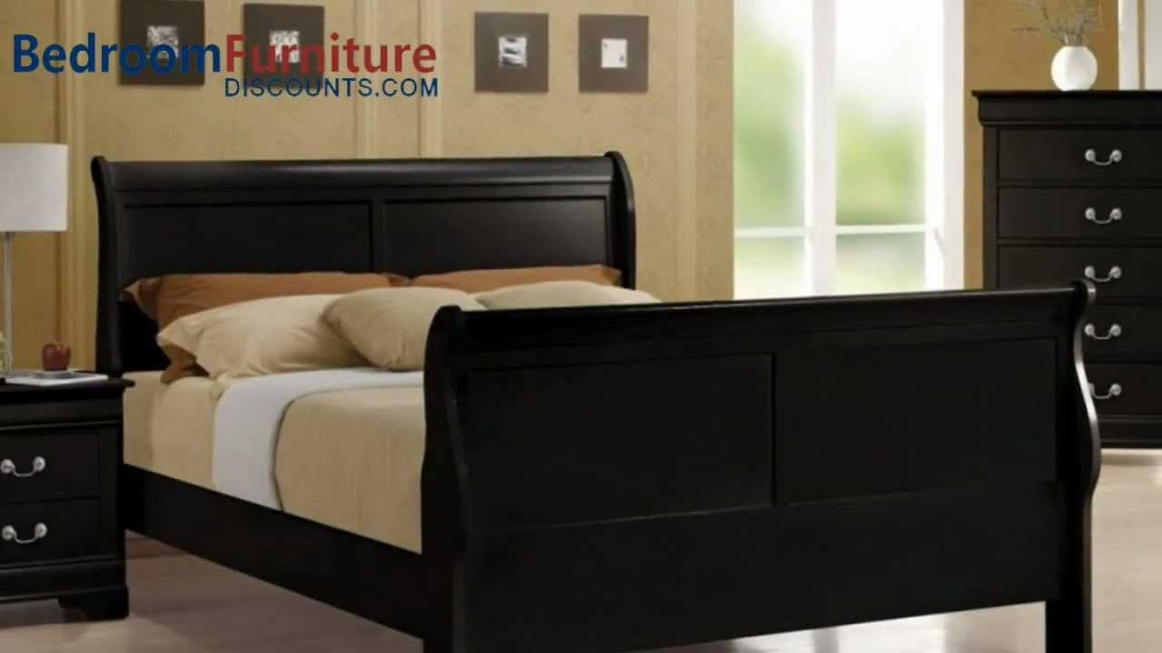 Coaster Louis Philippe Sleigh Bedroom Set In Black Youtube