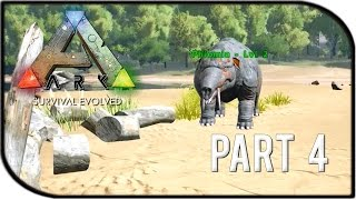"ARK: Survival Evolved Gameplay Part 4 - ""Taming the Phiomia!"""