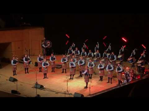 Shotts & Dykehead Caledonia Pipe Band Concert - Bloody Fields of Flanders Set - Glasgow 2017