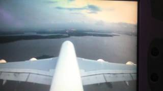 Air France A380 landing in Abidjan Port Bouet Airport July 2015