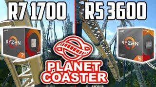 Planet Coaster | AMD Ryzen R7 1700 Vs. R5 3600 (deutsch)
