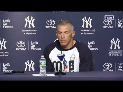 Joe Girardi on the Wild Card playoff game