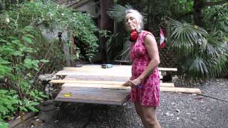 How To Make A Recycled Cedar Table Top