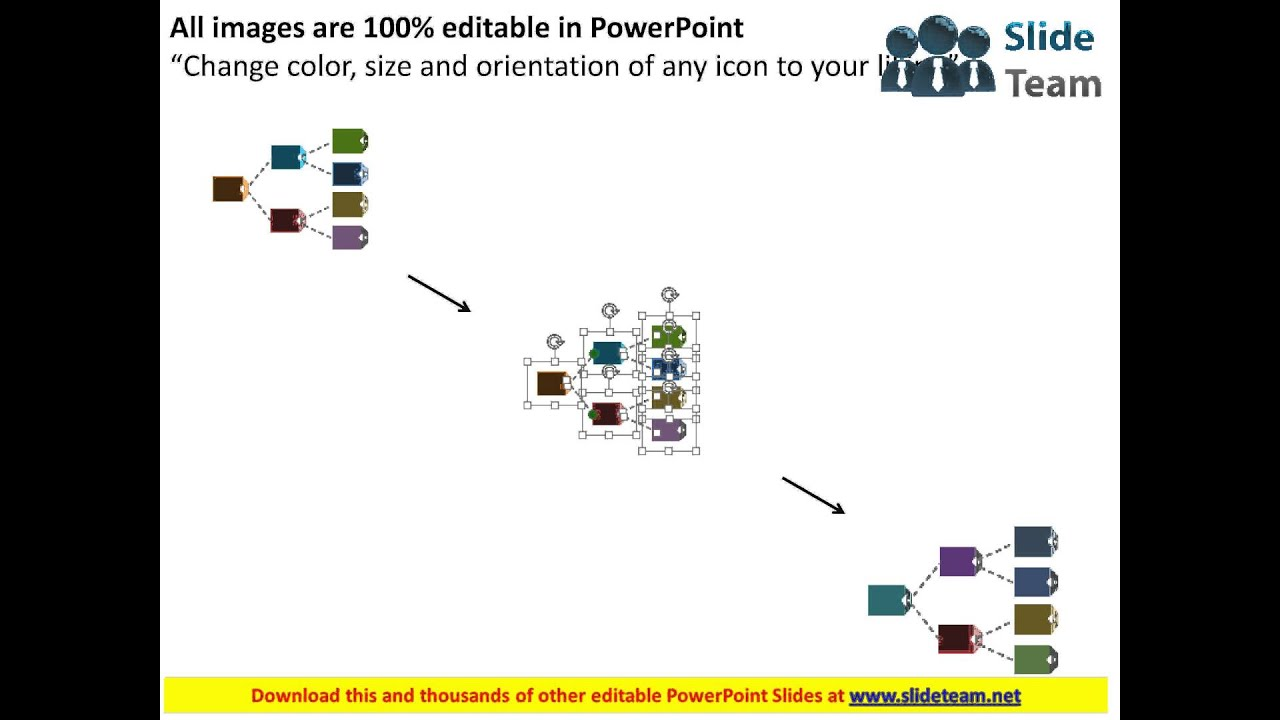 linear process flow chart with icons flat powerpoint design youtube