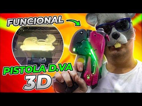 IMPRIMI EM 3D A PISTOLA DA D.VA DE OVERWATCH