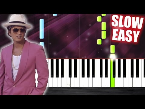 Mark Ronson  Uptown Funk ft. Bruno Mars  SLOW EASY Piano Tutorial by PlutaX