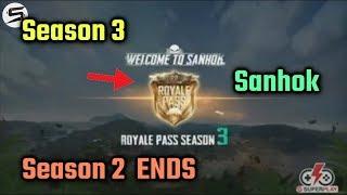 PUBG Mobile SANHOK in Season 3, Royale Pass S3, Season 2 ENDS!
