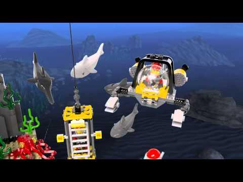 Lego 60095 | Deep Sea Explorers | Deep Sea Exploration Vessel | 3D Review