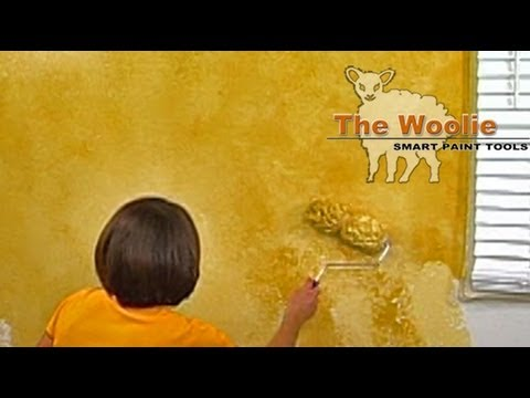 2-Color Roller Faux Finish Painting by The Woolie (How To Paint ...