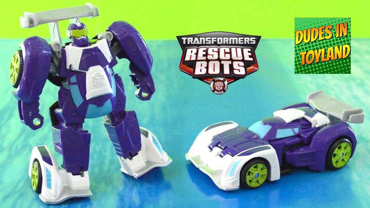 Rescue Bots Blurr Race Car   Transformers Toys   YouTube