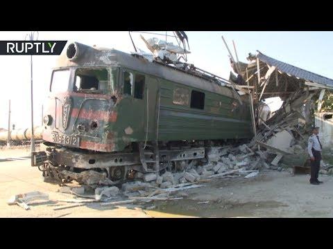 Двое погибших и 42 раненых: в Азербайджане автобус столкнулся с поездом