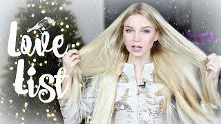 LOVE LIST ☃ СПИСОК ЛУЧШИХ - накладные волосы, бюстгальтер, любимые блогеры, сериал, косметика, декор