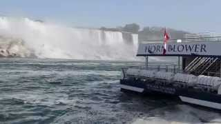 Point-of-view aboard Hornblower Niagara Cruises Niagara Falls boat tour