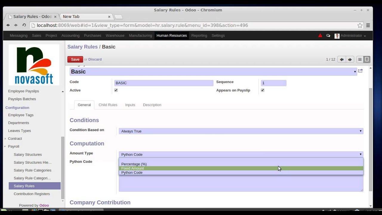 Payroll In Odoo/OpenERP HR Module   YouTube