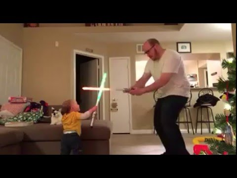 Baby Uses the Force