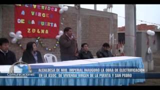 INAUGURACION DE ELECTRIFICACION EN SECTOR VIRGEN DE LA PUERTA