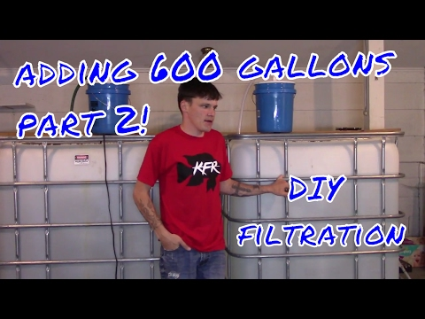 DIY Bucket Filter for 330 Gallon Fish and Turtles Totes