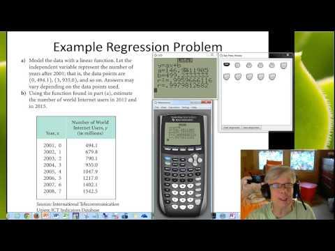 Linear Regression:  Calculate and Predict