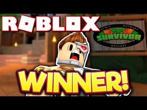MY FIRST TIME WINNING ROBLOX SURVIVOR!!