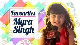 My Favourites With Myra Singh Aka Amyra   Kullfi Kumar Bajewala    Telly Reporter Exclusive