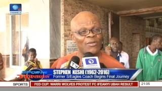 Late Stephen Keshi Begins Final Journey