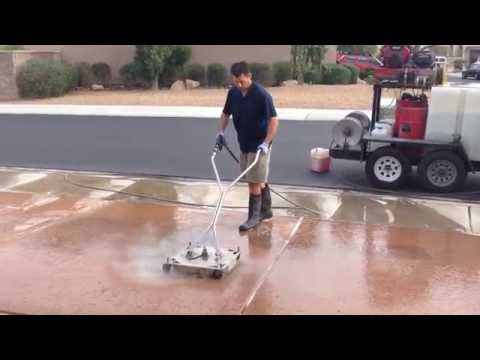 Craig's Circle Techniqe: Pressure Wash Lines, Stripes and Overlap Marks Out of Concrete