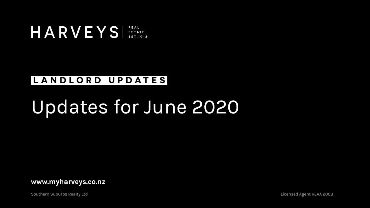 Landlord Updates for June 2020